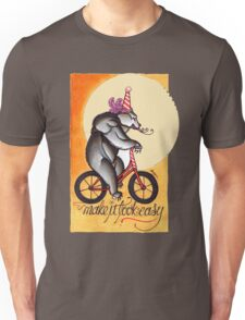 bear on a bicycle, natural talent shirt Unisex T-Shirt