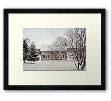 little stone house Framed Print