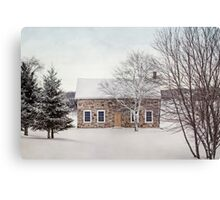 little stone house Canvas Print