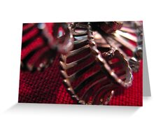 Abstract Holidays Series 04: Chrome Bow Greeting Card