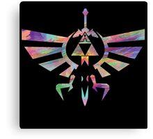 The Legend of Zelda - Hyrule Crest + Master Sword // Water Color Edition Canvas Print