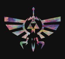 The Legend of Zelda - Hyrule Crest + Master Sword // Water Color Edition by stevenlovesBoA