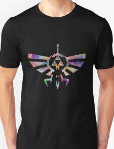 The Legend of Zelda - Hyrule Crest + Master Sword // Water Color Edition T-Shirt