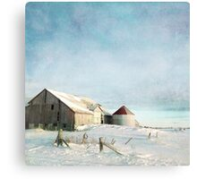 evening at the barn Canvas Print