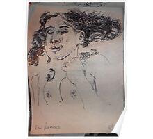Female Nude II -(290313)- A5 sketchpad/Black Ink Pen Poster