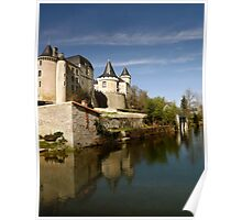 Chateau at Verteuil sur Charente Poster