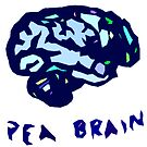 Pea Brain - in blue by Kari Sutyla