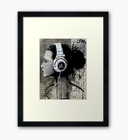 high fidelity Framed Print