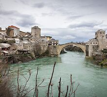 The Old Bridge in Mostar by Philip Kearney