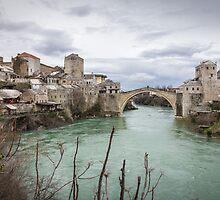 The Old Bridge in Mostar by Philip Kearney