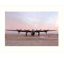 Morning Sun on B-24J Bomber Art Print
