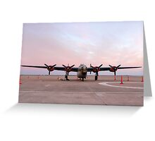 Morning Sun on B-24J Bomber Greeting Card
