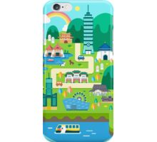 Lovely town scenery iPhone Case/Skin