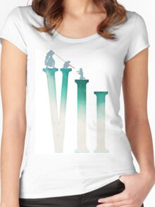 Final Fantasy VII: The Sacrifice Of Cloud - Numbers and Characters REMADE Women's Fitted Scoop T-Shirt