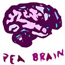 Pea Brain - in purple by Kari Sutyla