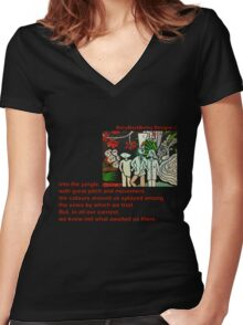 Left in the Jungle Women's Fitted V-Neck T-Shirt