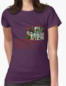 Left in the Jungle Womens Fitted T-Shirt