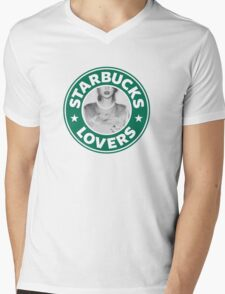 Starbucks Lovers Mens V-Neck T-Shirt