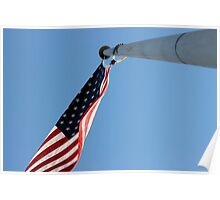Under the United States Flag Poster