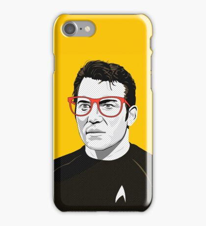 Star Trek James T. Kirk (William Shatner) Pop Art  illustration iPhone Case/Skin