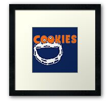 Funny Monster Cookies Framed Print
