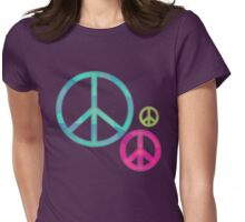 Retro-Peace Signs Womens Fitted T-Shirt