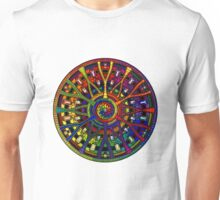 Mandala 45 Rainbow T-Shirt Design Unisex T-Shirt