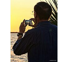 Shooting the Sunset Photographic Print