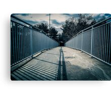 Looking to the tunnel Canvas Print