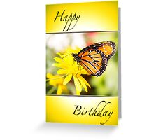 Happy Birthday Monarch Butterfly Card Greeting Card