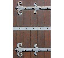Antique Door with metal Hinges Photographic Print