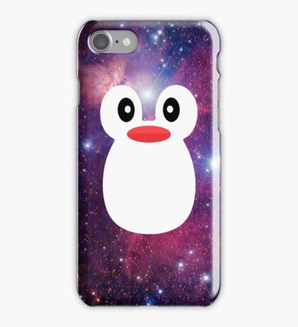 Penguin Galaxy Purple iPhone Case/Skin