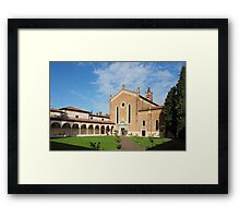 San Bernardino church in Verona Framed Print
