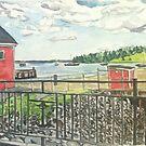 Lunenburg, Harbor, Nova Scotia by Caroline  Hajjar Duggan