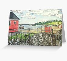 Lunenburg, Harbor, Nova Scotia Greeting Card