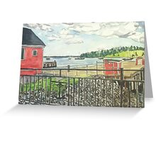 Lunenburg, Harbor, Nova Scotia Greeting Card