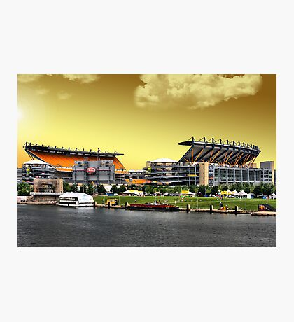 Heinz Field is Golden Photographic Print