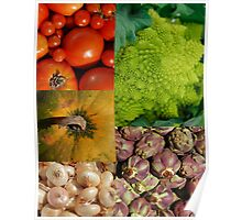 Five Vegetables Poster