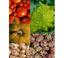Five Vegetables Photographic Print
