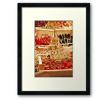 Box of Cherry Tomatoes in Fruit and Veg Display Framed Print