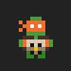 Pixel Art TMNT Michaelangelo by jaredfin