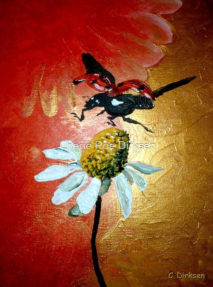Ladybird Landing on Daisy by Cherie Roe Dirksen