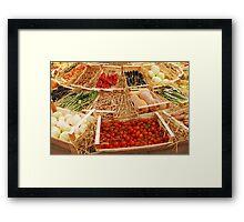 Fruit and Veg Display Framed Print