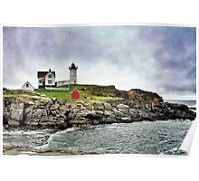 Cape Neddick Light, Maine Poster