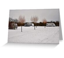 """Winter campsite"" Greeting Card"