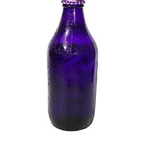 Isolated Indigo Beer Bottle by jojobob