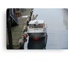 """""""Docked Boat"""" by Carter L. Shepard Canvas Print"""