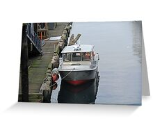 """Docked Boat"" by Carter L. Shepard Greeting Card"
