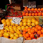 Citrus Fruits on Market Stall by jojobob