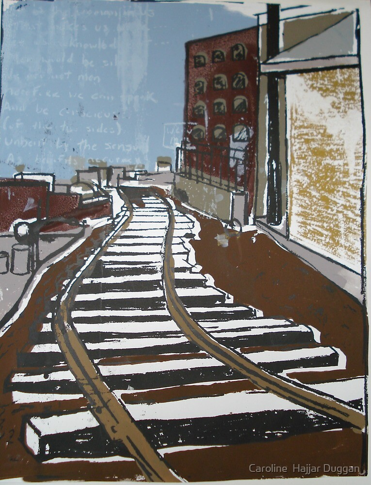 Brooklyn Train, Silkscreen  by Caroline  Hajjar Duggan